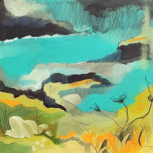 Abstract landscape - Painting by Sarah Hardy Artist