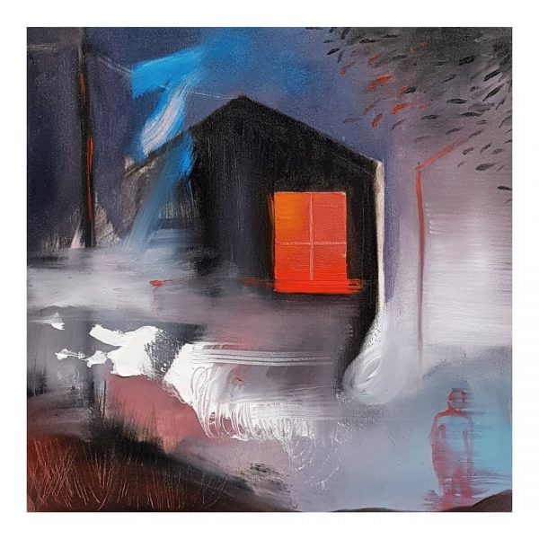 Red Window - Original painting - Sarah Hardy